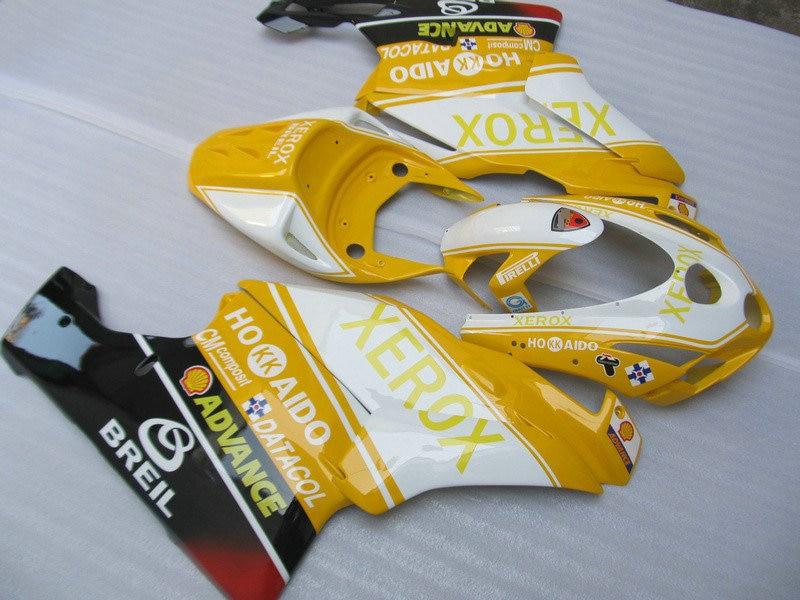 Custom Fairing Kit for Ducati 749 999 03 04 749 999 2003 2004 ABS Yellow white