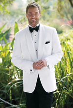 Latest Design White Mens Suits Groom Tuxedos Groomsmen Wedding Party Dinner Prom Best Man Wear Suits Blazer (Jacket+Pants+Tie)