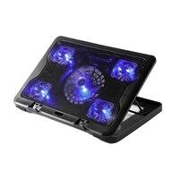 Brand New 5 Fan 2 USB Laptop Cooler Cooling Pad Base LED Notebook Cooler Computer USB