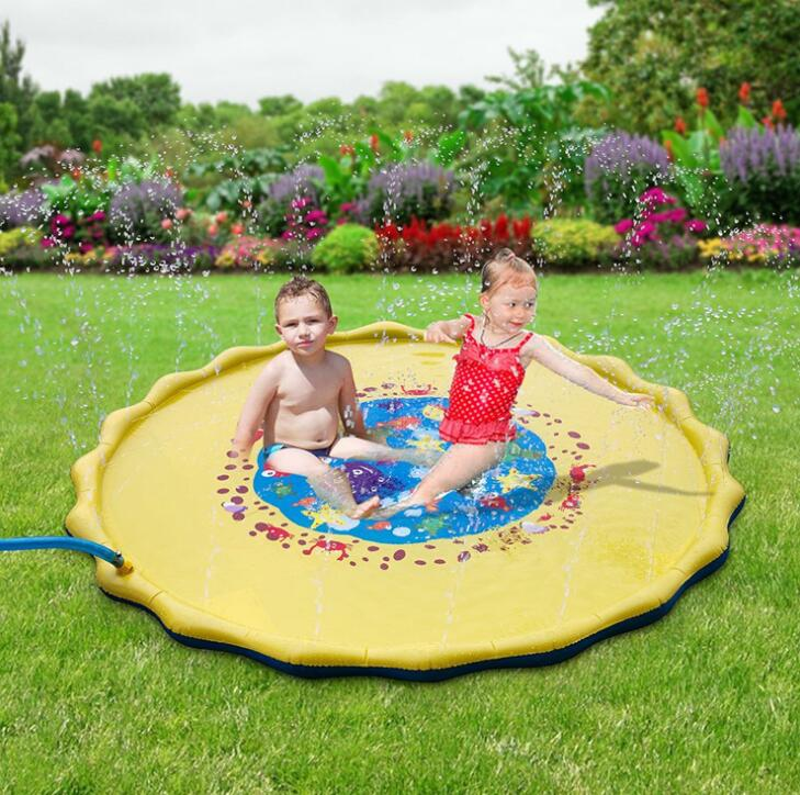 Baby Kids Water Play Mat Inflatable Beach Toy Infant Tummy Time Playmat Toddler Fun Activity Play Center Water Mat For Babies