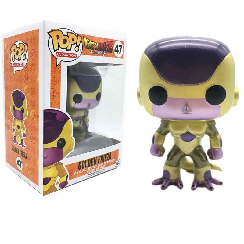 fda23e82bbf Funko POP New Arrival Official Dragon Ball Golden Frieza Action Figure  Dolls Collection Figure Model Toys