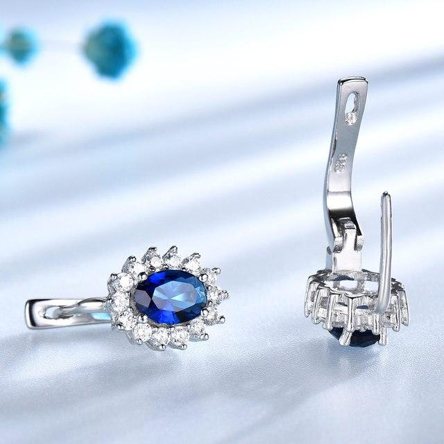Blue Sapphire Silver Earring 1