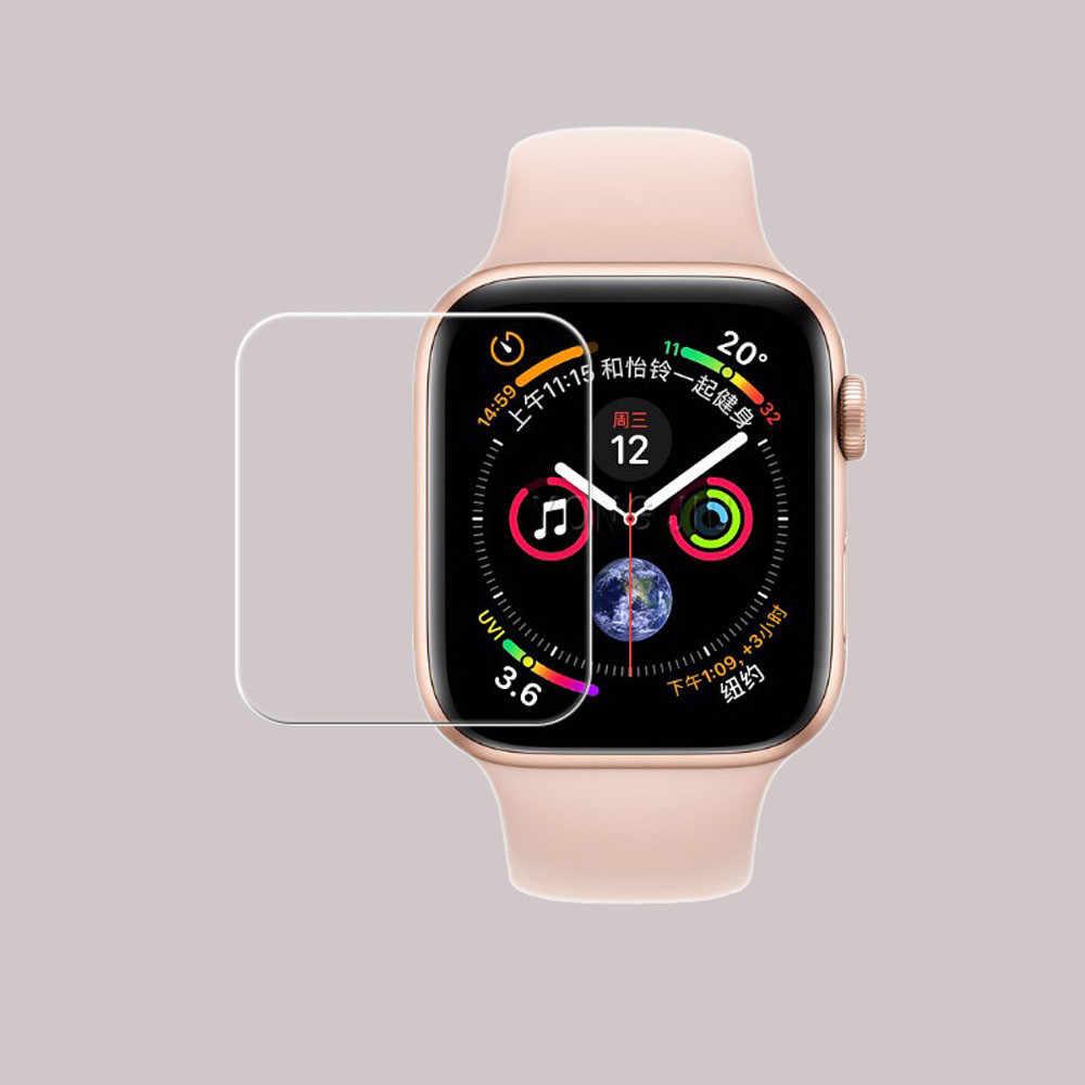 1/2/3 piezas 40/44mm LCD Protector de pantalla de vidrio templado 9H película protectora de dureza Premium Scratch prueba para Apple Watch # BL5