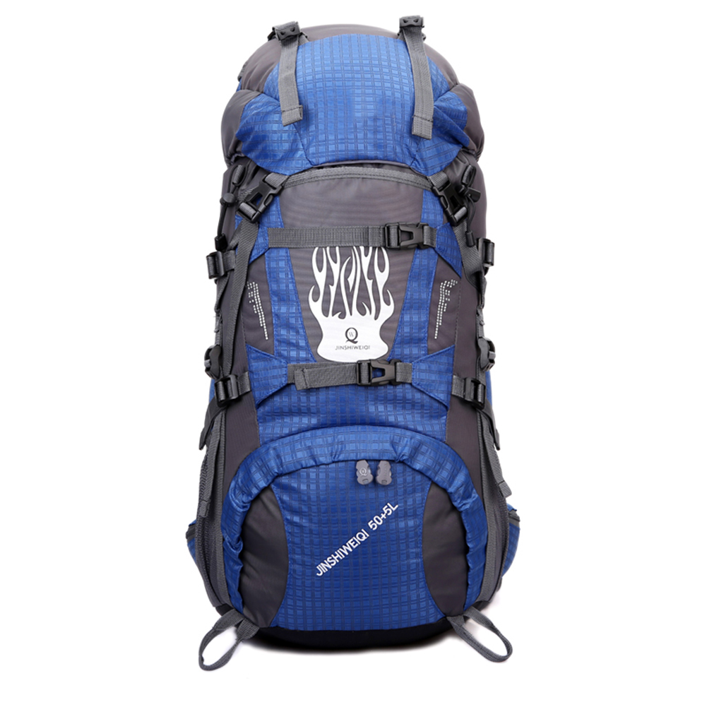 ФОТО 55L Waterproof Nylon Outdoor Bags Professional Hiking Camping Travel Backpack Pack Mountaineering Unisex Climbing Knapsack