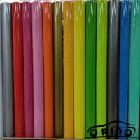 Bright Glossy Vinyl Film Car Color Change Wrapping Sticker DIY Self adhesive Decal For Car Motorcycle Truck Full Body Wrap