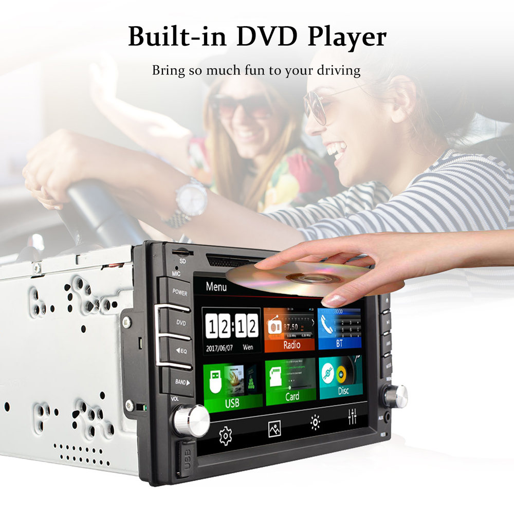 Hot 2 Din Car dvd gps player HD Support reversing rear view Bluetooth USB SD CD radio 2DIN For Nissan Volkswagen Peugeot Toyota-in Car Multimedia Player from Automobiles & Motorcycles    2