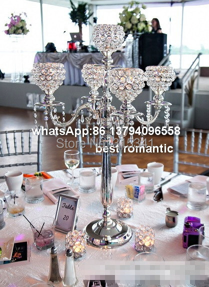 4pcslots wedding centerpiece crystal wedding decoration crystal 4pcslots wedding centerpiece crystal wedding decoration crystal candelabrascrystal candle holder for wedding decoration in party diy decorations from home junglespirit Image collections