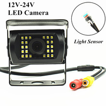 hot deal buy 12-24v bus truck camera 18 ir led vehicle car rear view camera night vision with 5m/10m/15m/20m aviation connector wire cable