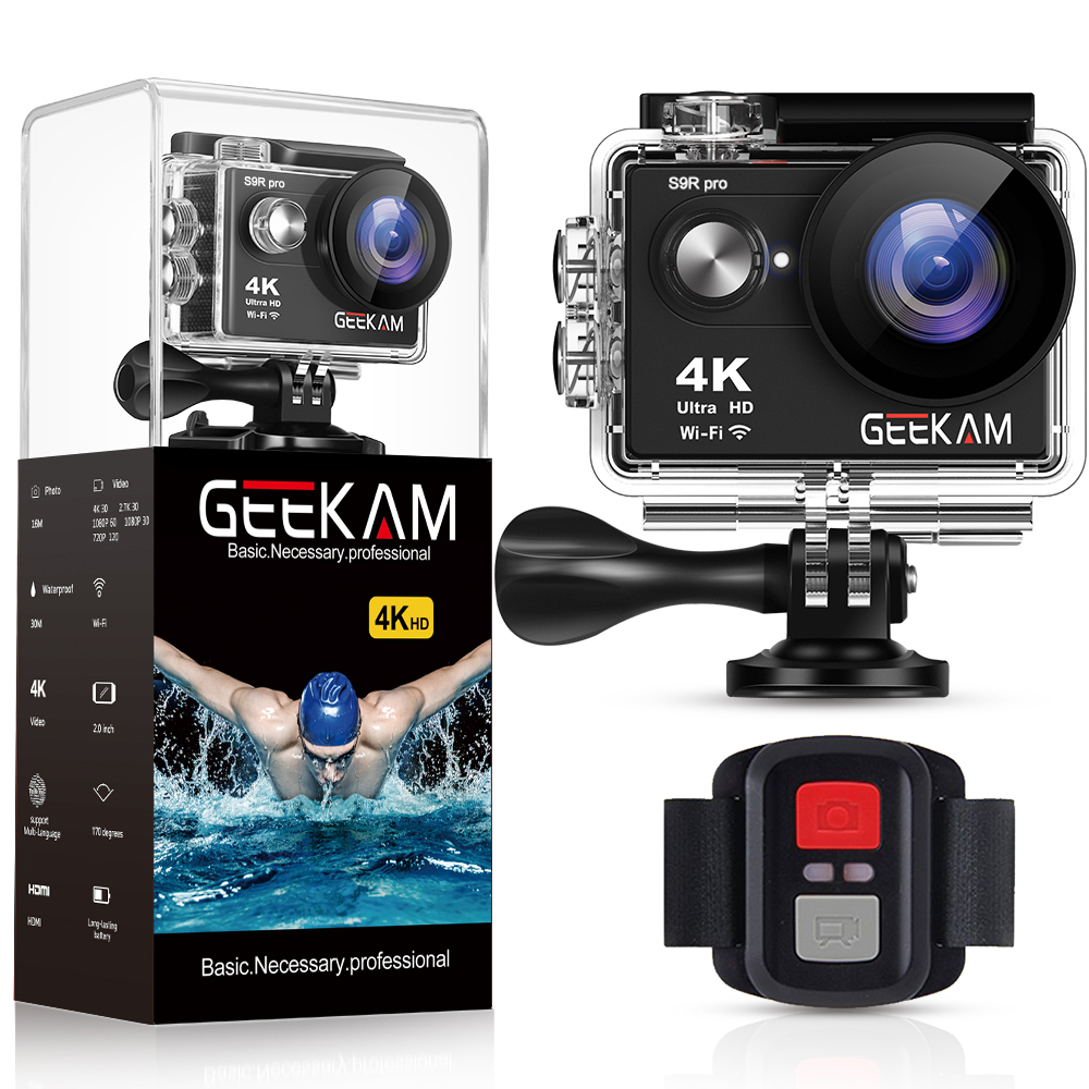 GEEKAM S9Rpro Action Camera Ultra HD 4K 30fps 16MP WiFi 2 0 Underwater Waterproof Helmet Video