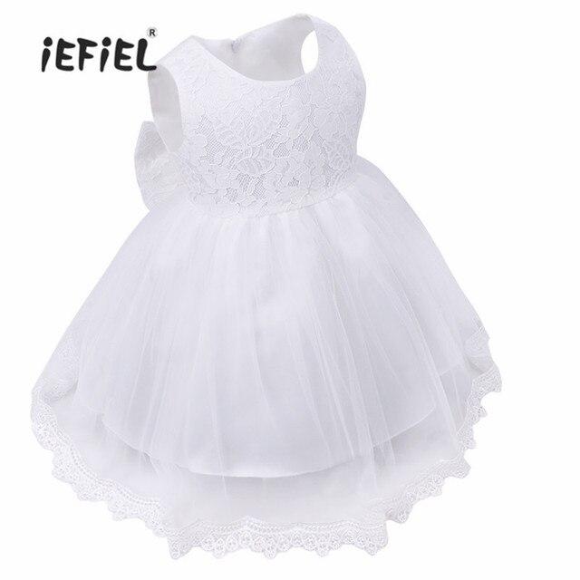 2017 newesr trắng gái làm lễ rửa tội gown trẻ sơ sinh bé dress cho little girls mặc hàng ngày wedding birthday party phép rửa dress