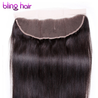 Straight Peruvian Hair Remy Peruvian Straight Human Hair 13x4 Lace Frontal Natural Color 10 To 22