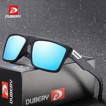 DUBERY Brand Design Polarized Sunglasses Men Driver Shades Male Vintage Sun Glasses For Spuare Colorful Summer UV400 Oculos