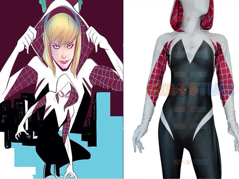 Aliexpress.com : Buy Gwen Stacy spiderman Costume The ...