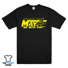 MAY THE 4TH STAR WARS DAY PRINTED SLOGAN TSHIRT FUNNY JEDI FORCE ROGUE ONE MENS Free shipping