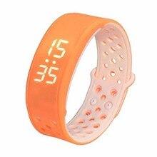 W9 Bluetooth V4.0 шаг счетчик активности на Водонепроницаемый IP67 спортивные Фитнес трекер Смарт-часы браслет, оранжевый