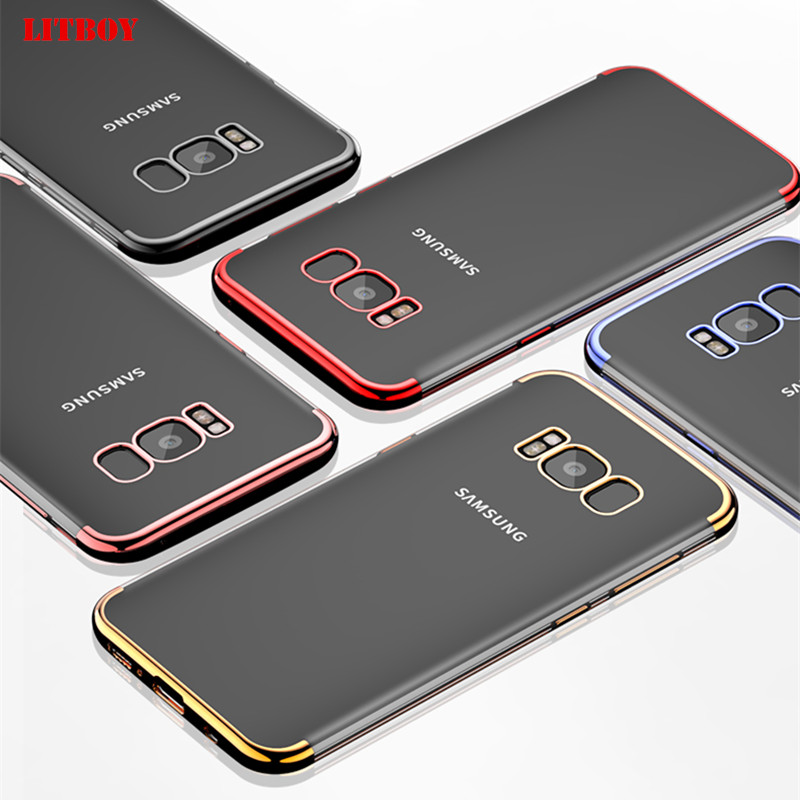 LITBOY Ultra Thin Soft TPU Case For Samsung Galaxy S9 S8 Plus S7 edge S6 Pating soft Case For Samsung S9 S8 Note 8 Luxury Cover