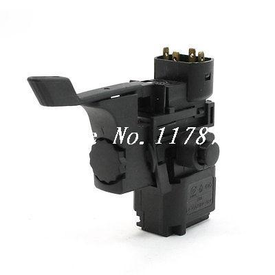 4A 250VAC Replacement 4 Pin Terminal Locking Trigger Switch for Bosch 500 Drill