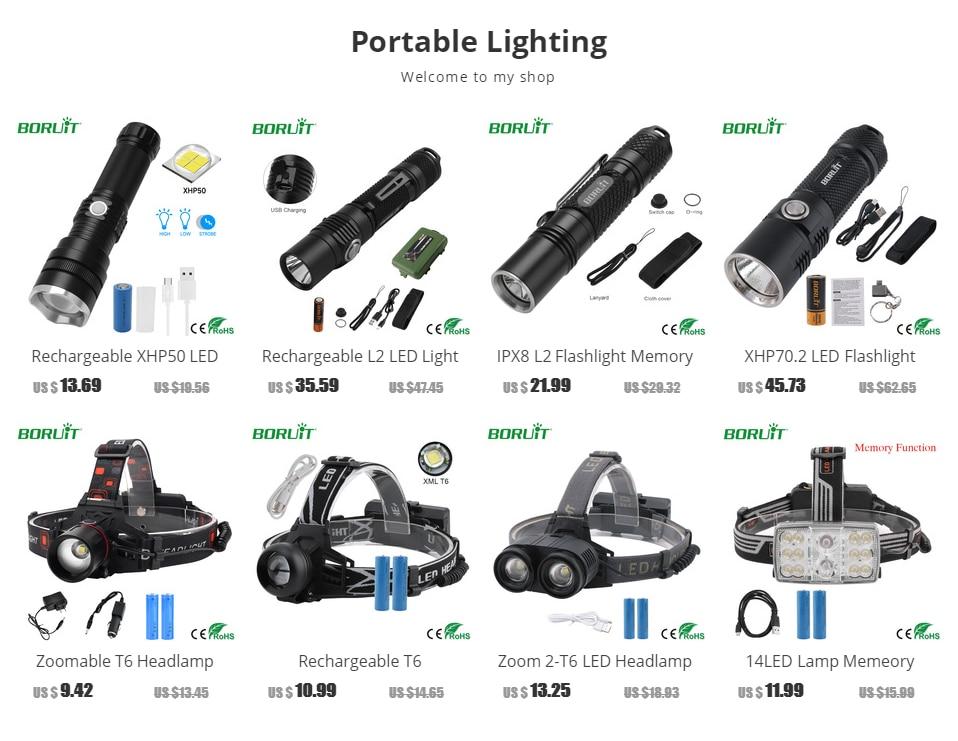 Chauve-souris sécurité lumière Flash DEL Torch 5 Fonction Zoom haute faisceau LAMPE DE POCHE SOS