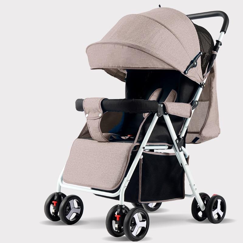 Baby strollers lightweight folding umbrella strollers portable baby strollers for dolls can sit can lie ultra-light strollers цена