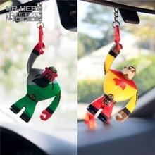 Mr.Hero Batman car rearview mirror pendant cartoon dolls creative decorations accessories