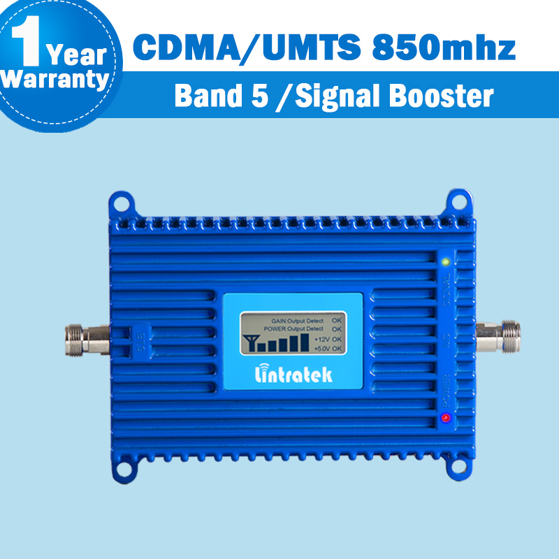 Lintratek UMTS 3G 850mhz Repeater 70dB Signal Amplifier UMTS (850 CDMA) Band 5 Mobile Phone Cellular Signal Repeater 850mhz S42