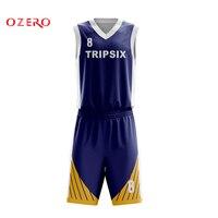 male blank basketball jersey mens sports training shirt and short set adults basketball clothes teams uniform