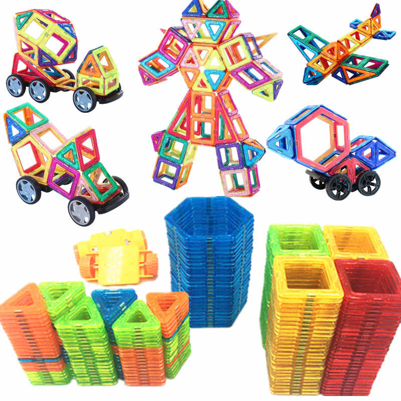 185-47PCS Magnet Toy Building Blocks Magnetic Construction Sets Designer Kids toddler Toys for children funny Christmas Gifts
