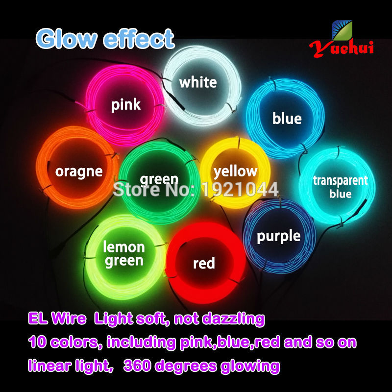 2017 Hot sales 2.3mm EL Wire Led Glowing Lighting Not Include EL - Festive and Party Supplies