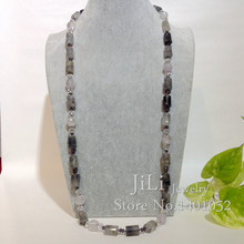 Natural Cloudy Quartzs beads and Amethysts beads  long sweater Necklace Fashion Jewelry Approx 86cm/34inches