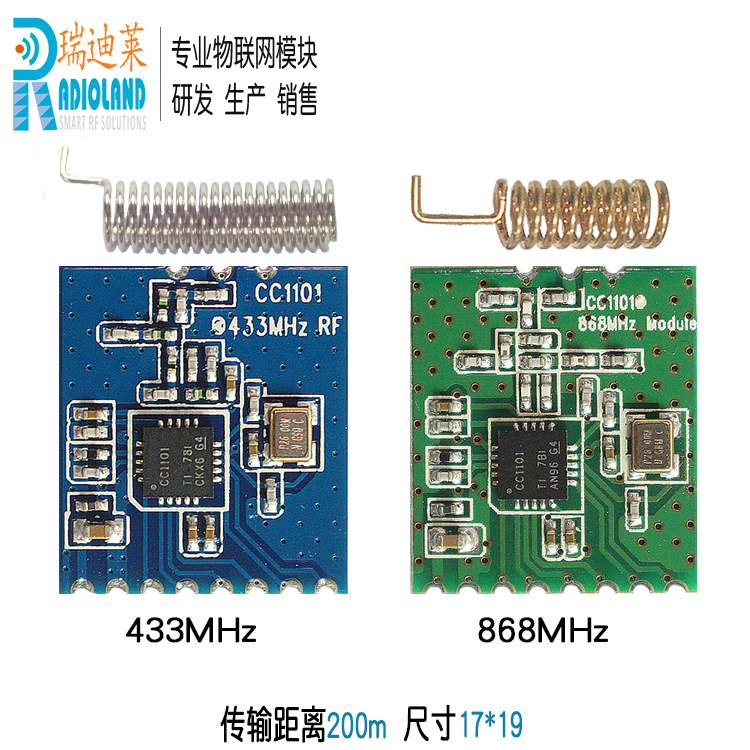 CC1101 Industrial Radio Frequency Communication Module SPI Transceiver Routine 433/868MHz Small Volume PatchCC1101 Industrial Radio Frequency Communication Module SPI Transceiver Routine 433/868MHz Small Volume Patch