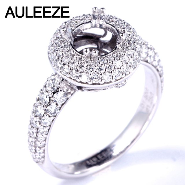 Wedding Ring Settings | Auleeze Round Cut Semi Mount Ring Settings 1 25cttw Vs Real Diamond