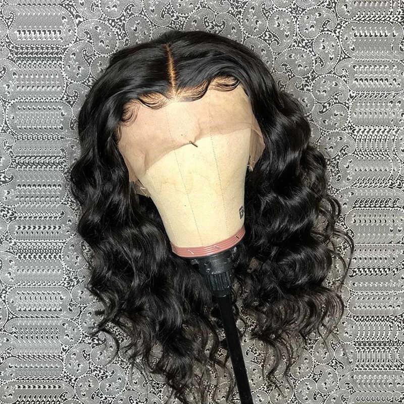 Pelucas de cabello humano de encaje Pre desplumado con pelo de bebé Peluca de encaje brasileño de onda profunda suelta Peluca de encaje sin pegamento peluca llena Remy