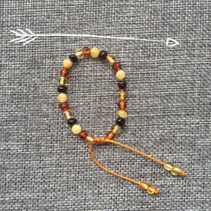 Image 4 - سوار Yoowei كهرمان البلطيق الأصلي من الخرز الباروكي قابل للتعديل من الكهرمان سوار مجوهرات كهرمان طبيعي Bijoux موردو مجوهرات