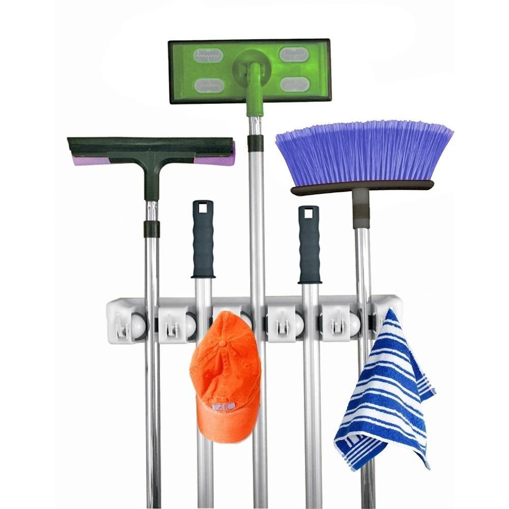 home mop broom holder wall mount garden tool storage tool rack storage organization for the home plastic hanger - Garden Tool Rack