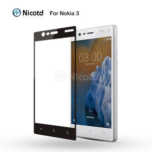 Image 2 - Nicotd For Nokia 3 Full cover 2.5D Explosion Proof Tempered Glass for nokia three screen protector toughened protective film