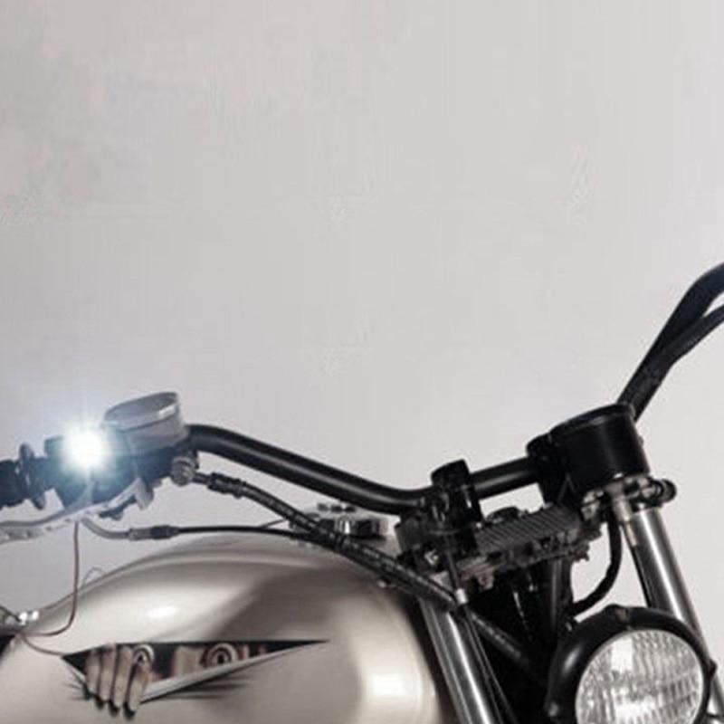 2Pcs 12V Motorcycle White LED Spotlight Headlight Driving Light Fog Lamp 21.5*20*47mm spotlight accessories car work Fog light-in Electromobile from Automobiles & Motorcycles