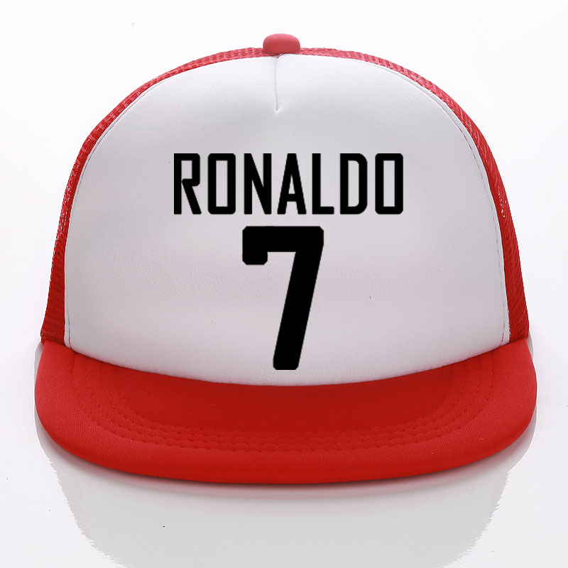 2018 Fußball Caps Ronaldo Fans Trucker Cap Brauch Fußball Name Erwachsene/kind Baseball Hüte Diy 7 Hüte Sonne Hysteresen Sommer Tuch
