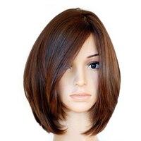 Кошерный еврейский парик фронта шнурка человеческих волос парики с детскими волосами европейские натуральные волосы парик короткий фронт