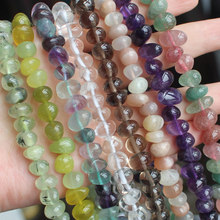 Free shipping ! Pretty  6-12mm Freeform Quartz Loose Beads 15/38cm , For DIY Jewelry Making