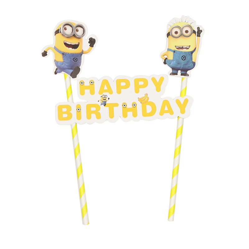 Childrens Birthday Party Foil Pick Straw And Flags Pack of 36 Party Accessories