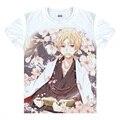 Natsume Takashi camisetas kawaii japonês Anime t-shirt Manga Shirt bonito dos desenhos animados Madara Cosplay gato camisas 37706402403 tee 148