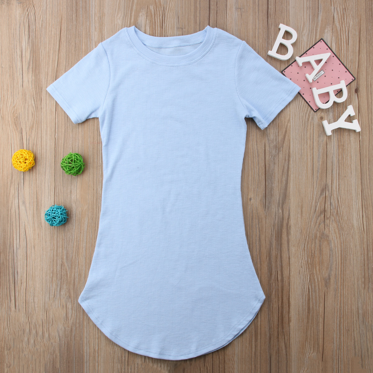 HTB1zz98p8smBKNjSZFFq6AT9VXaT 2019 Summer Mom Daughter Short Sleeve T shirt Dress Family Matching Outfits Baby Kid Women Party Dresses Cotton Clothes Dropship