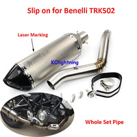 TRK502 Motorcycle Exhaust System Connect Middle Mid Pipe Slip on Escape Muffler Pipe for Benelli TRK502 Exhaust
