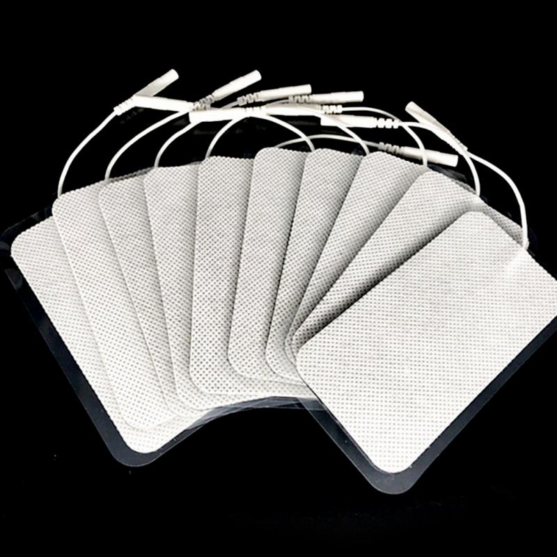 10pcs/lot Silicone Electrode Pads Tens Units White Cloth For Slimming Massage Digital Therapy Machine Massager