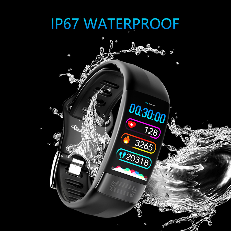 P11 Smart Bracelet Heart Rate Blood Pressure ECG Health Index Detection  Call Message Reminder IP67 Waterproof Fitness Sport Band