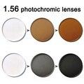 I-brillante 1.56 superficie asférica de alta calidad gris/marrón fotocromático lentes recetados miopía lente gafas de sol de protección UV