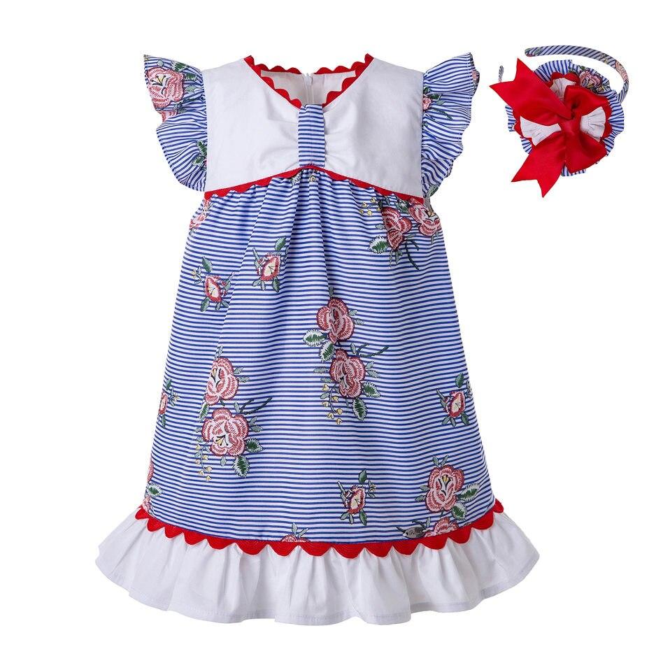 Pettigirl Baby Girl Summer Dress Toddler Puff Sleeve Festival Dress Wholesale Dress Children Dropshipping G DMGD203