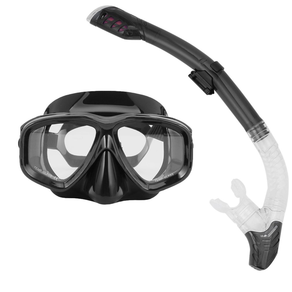 REIZ Professional Diving Masks Goggle Full Dry Silicone Snorkel Tube Set Men Women Diving Swimming Water Sports Equipment
