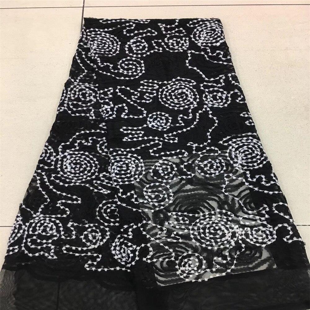 Blanc dentelle ruban bricolage artisanat brodé Net cordon pour la couture décoration africaine dentelle tissu HJ63-2