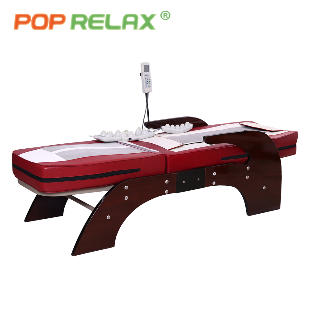 POP RELAX thermal massage bed full body electric heating spine relax massager health care rolling Korea jade roller massage bed pop relax electric vibrator jade massager light heating therapy natural jade stone body relax handheld massage device massager